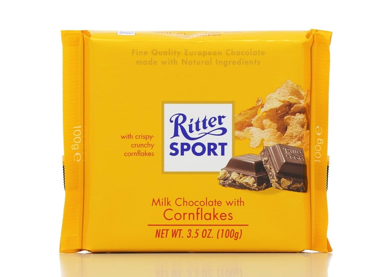 Ritter Sport Milk Chocolate With Cornflakes - 3.5 oz