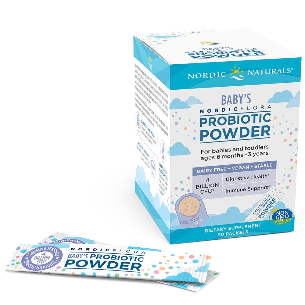 Nordic Naturals Baby's Nordic Flora Probiotic Powder 30 Packets