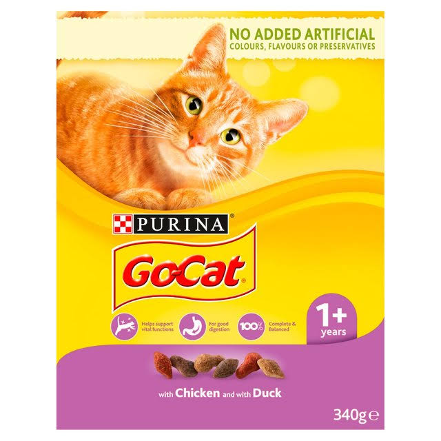 Go-Cat Adult Dry Chicken and Duck Cat Food - 340g