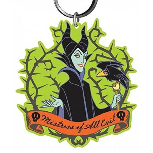 Disney Villains Soft Touch PVC Key Ring: Maleficent with Crow
