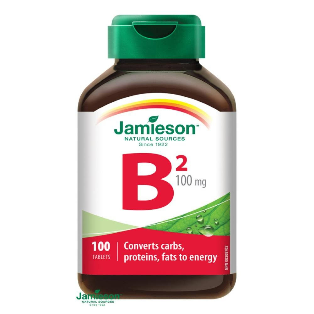 Jamieson Vitamin B2 Riboflavin Supplement - 100 Tablets
