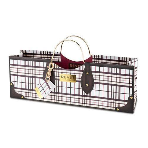 Cakewalk Plaid Wine Purse Bag