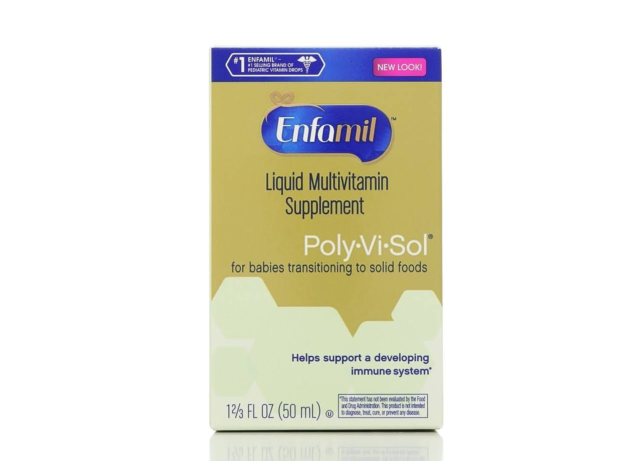 Enfamil Poly Vi Sol Multivitamin Supplement Drops for Infants and Toddlers - 50ml