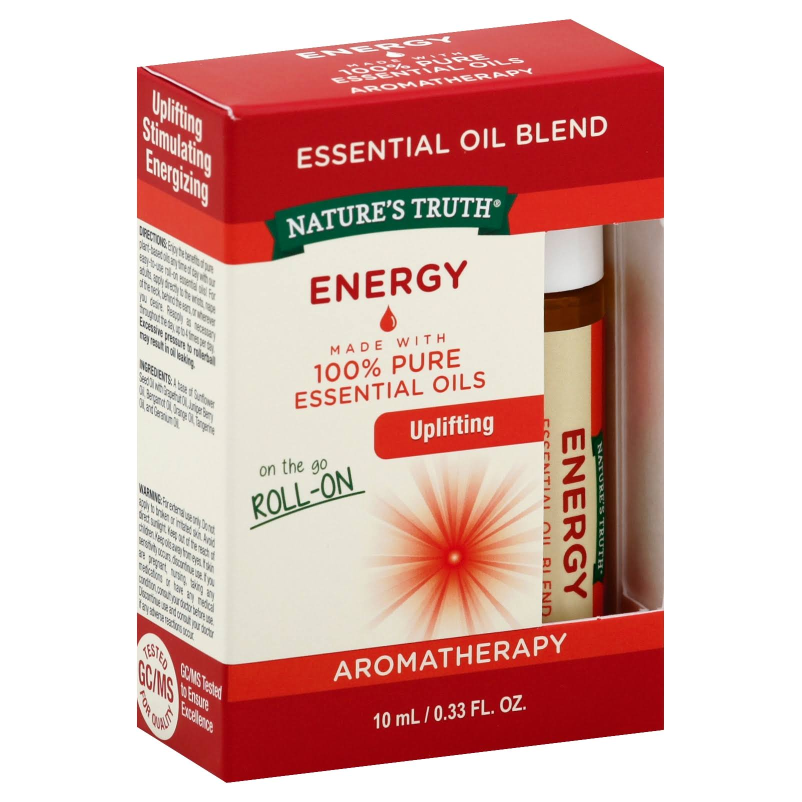 Nature's Truth Energy Essential Oil Roll On Blend - 10ml