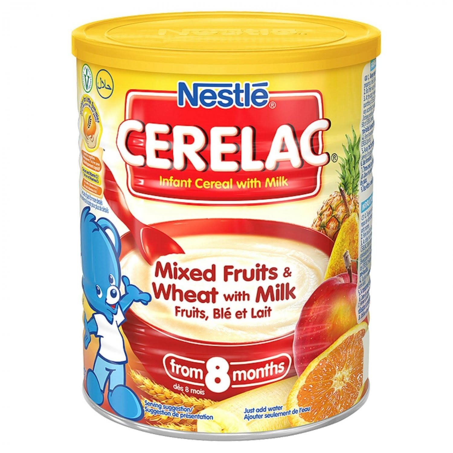 Cerelac Mixed Fruits & Wheat Fruits Blé with Milk from 7 Months - 400g