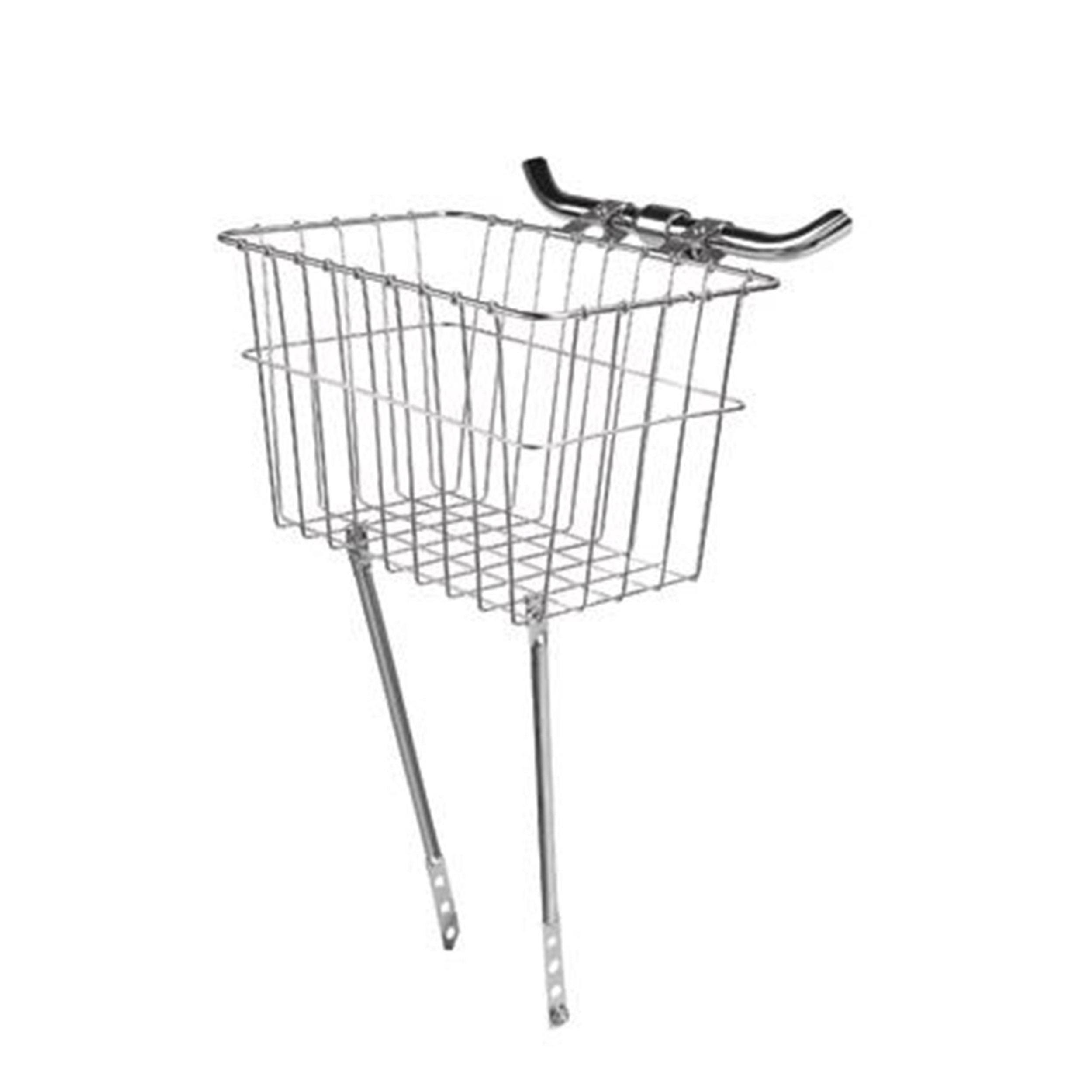 Wald Front Grocery Bicycle Basket - Silver