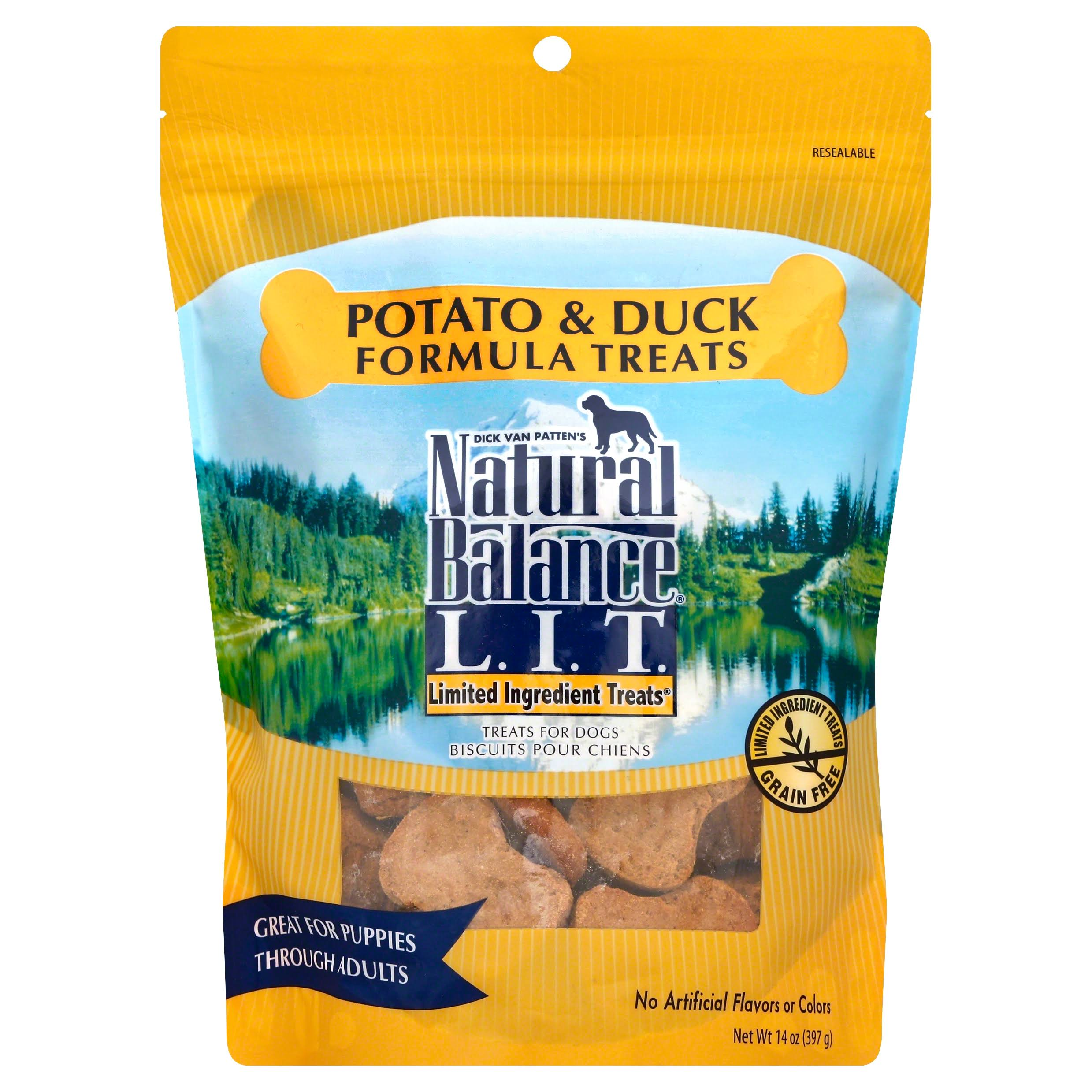 Natural Balance LIT Dog Treats - Potato & Duck Formula, 14oz