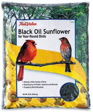 True Value Black Oil Sunflower Bird Seed - 20lb