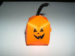 Steps To Carve A Pumpkin Worksheet by Origami Halloween Pumpkin Folding Instructions How To Make A