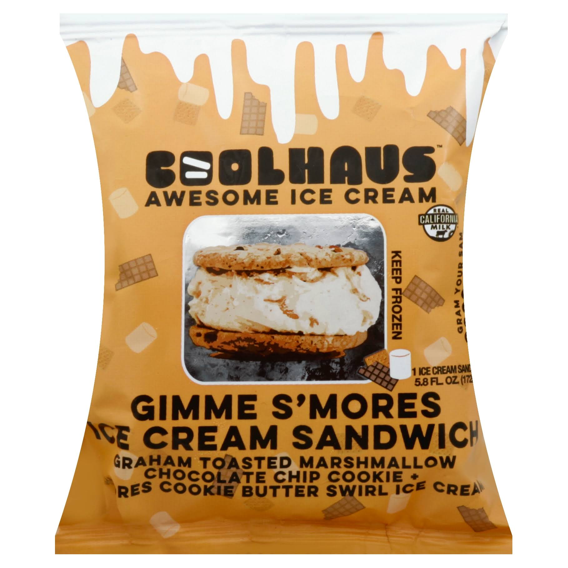 CoolHaus Ice Cream Sandwich, Gimme S'Mores - 5.8 fl oz