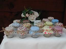 Shabby Chic Wedding Decorations Uk by Mini Jam Jar Wedding Favours Set Of 10 Pink Patchwork 1 5 Oz