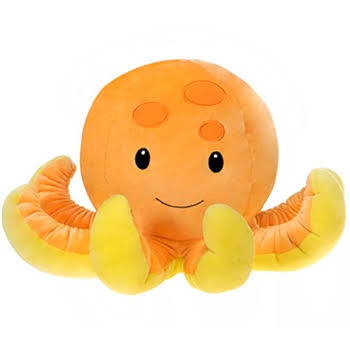 "Fiesta Toys Huggy Huggables Plush Stuffed Animal - 15.5"" Octopus"