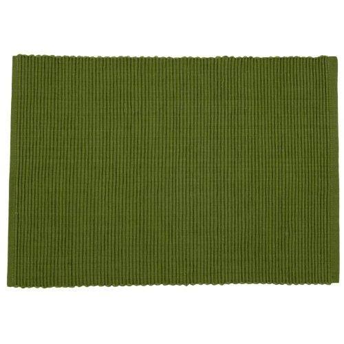 Now Designs Ribbed Cotton Placemats, Color: Fir