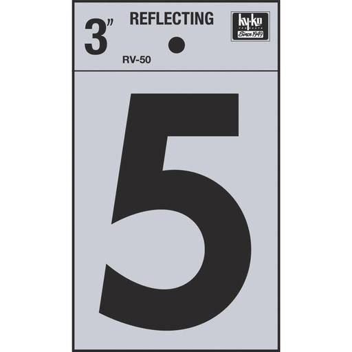 Hy-Ko Products Reflective 5 House Number