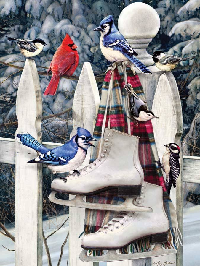 Cobble Hill Birds with Skates 500 Piece Jigsaw Puzzle