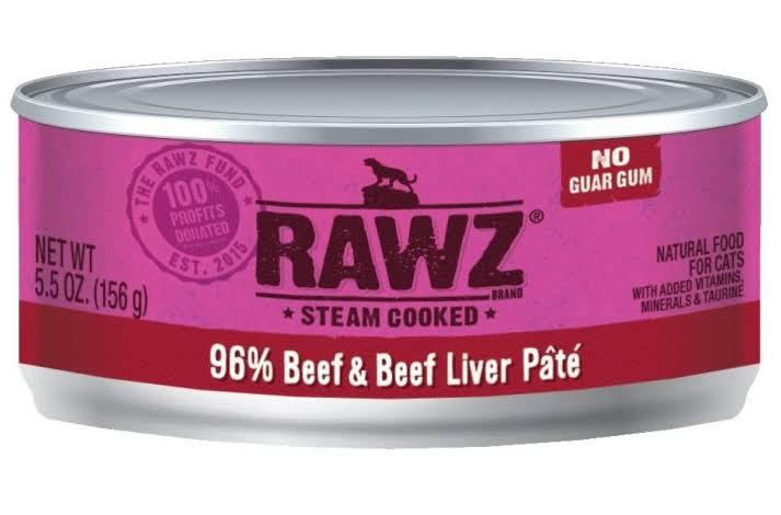 Rawz 96% Beef & Beef Liver Cat Food Can | Tomlinson's Feed 5.5 oz