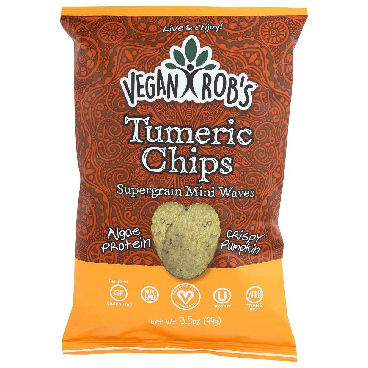 Vegan Robs Tumeric Chips, Supergrain, Mini Waves - 3.5 oz