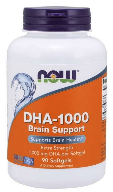 Now Foods DHA-1000 Brain Support, Extra Strength - 90 Softgels