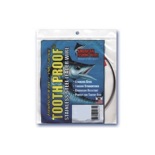 American Fishing Wire S05C0 Tooth Proof Stainless Steel Single Strand Leader Wire - 44lbs