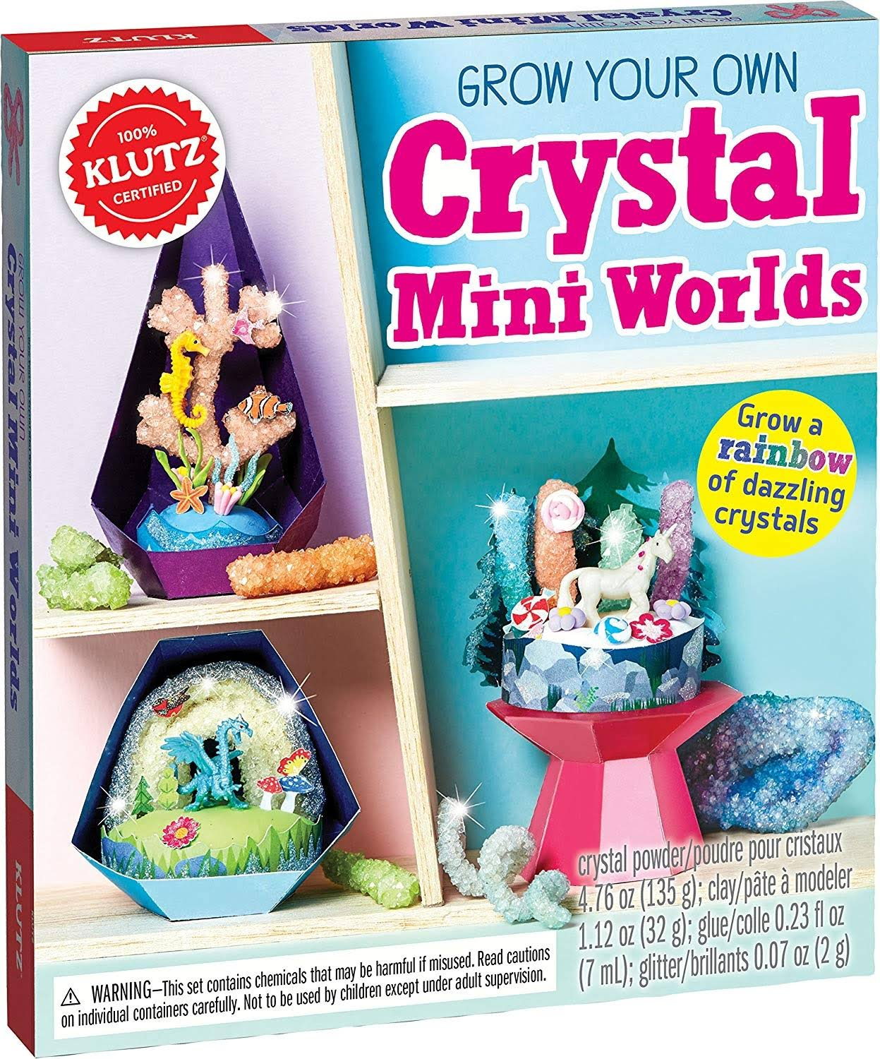 Klutz Grow Your Own Crystal Mini Worlds Book Kit