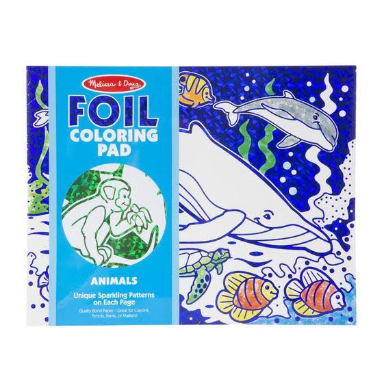 Melissa and Doug Foil Coloring Pad - Animals