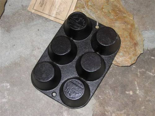 Old Mountain Pre Seasoned Cast Iron 6-impression Muffin Pan