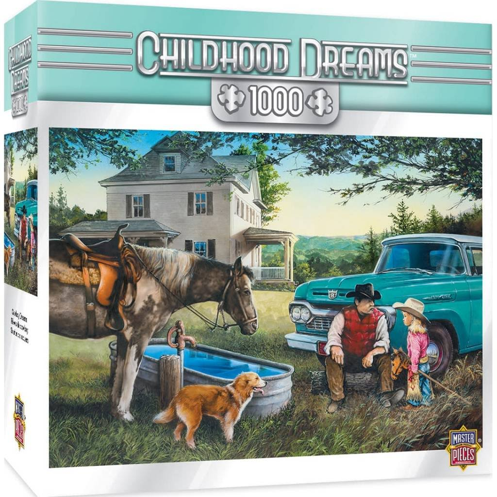 Masterpieces Childhood Dreams Cowboy Dreams Puzzle - 1000pcs