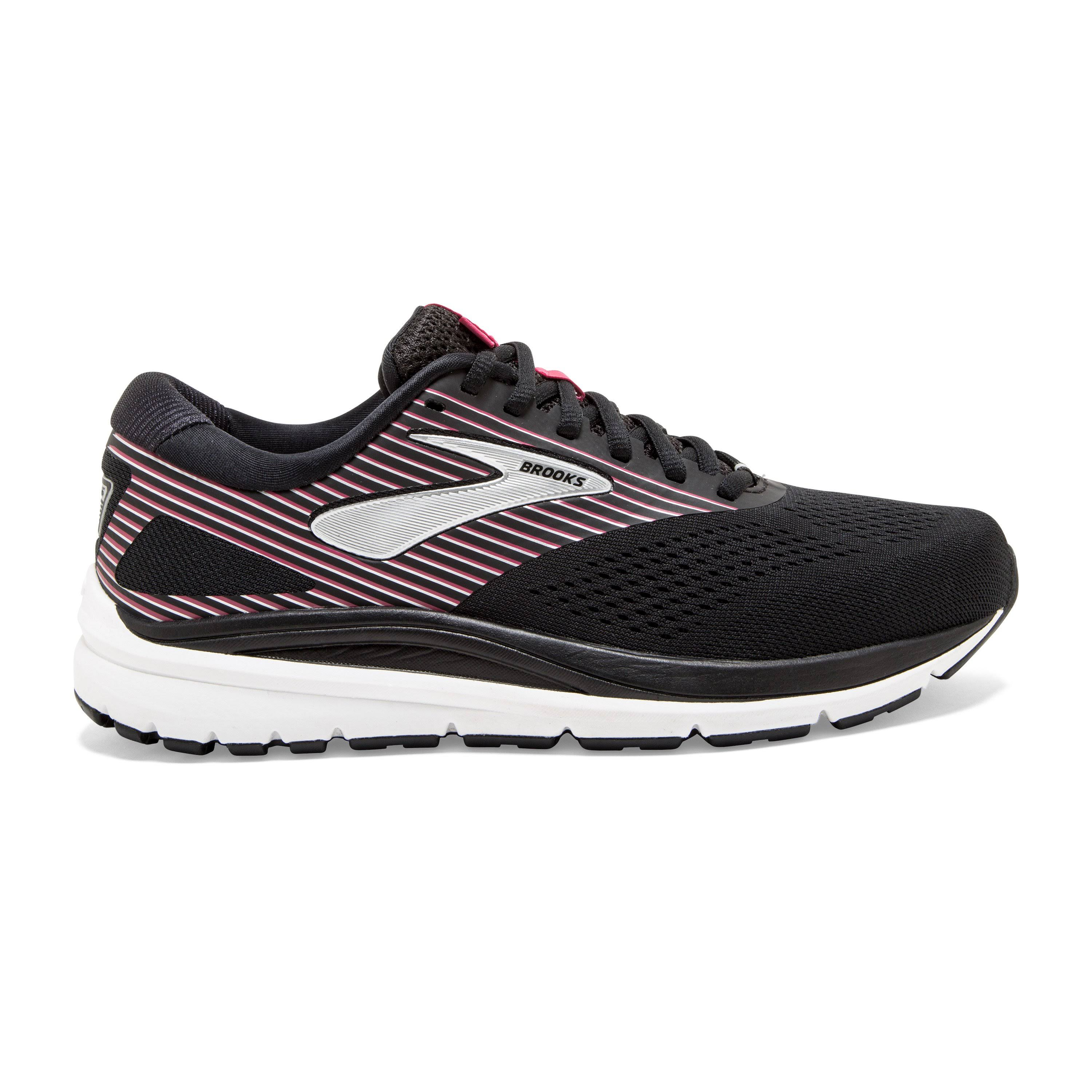 Brooks Women's Addiction (X-Wide) 14 Black-Hot Pink-Silver / 8