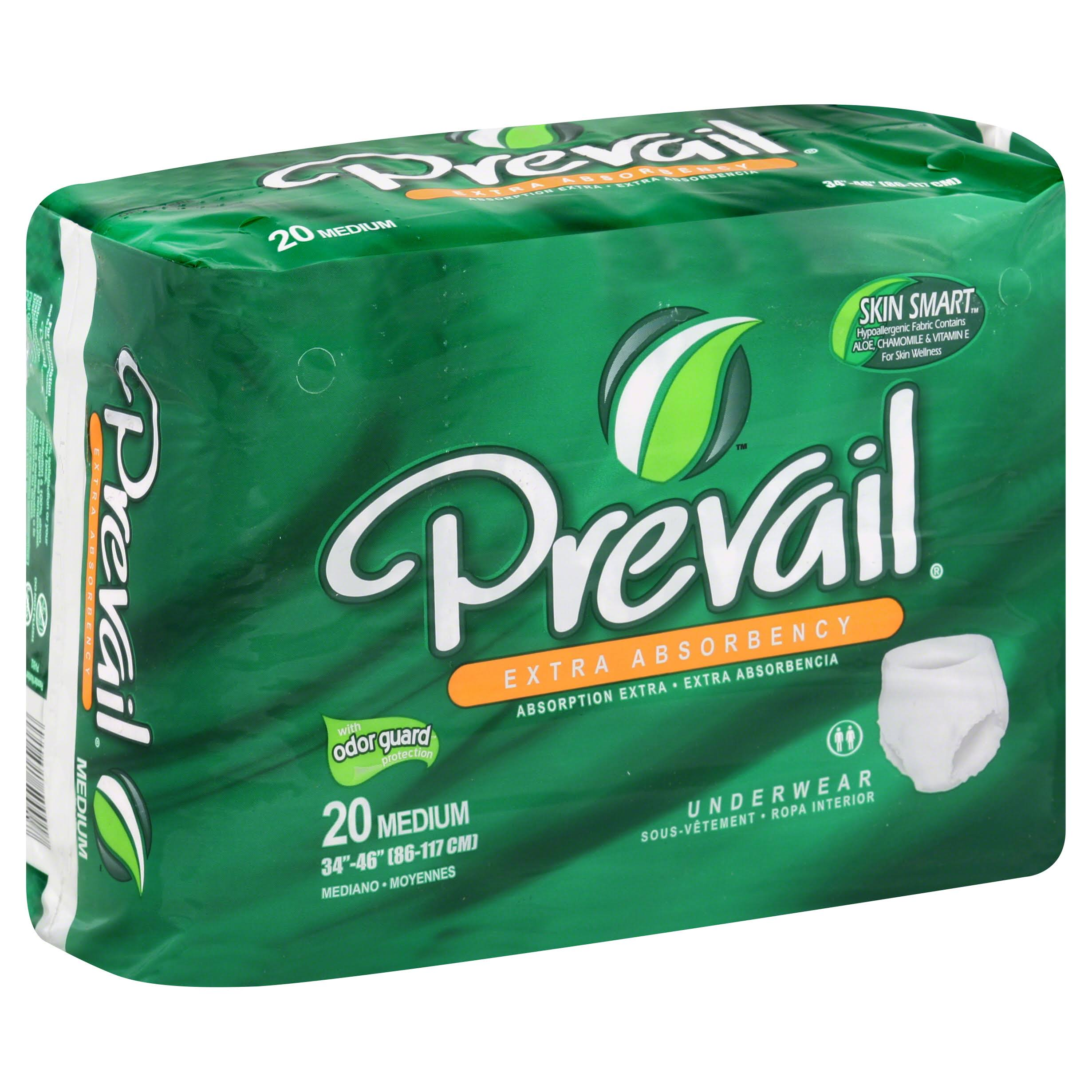 Prevail Extra Absorbency Comfort Shape Plus Incontinent Underwear - 20 Pack, Medium