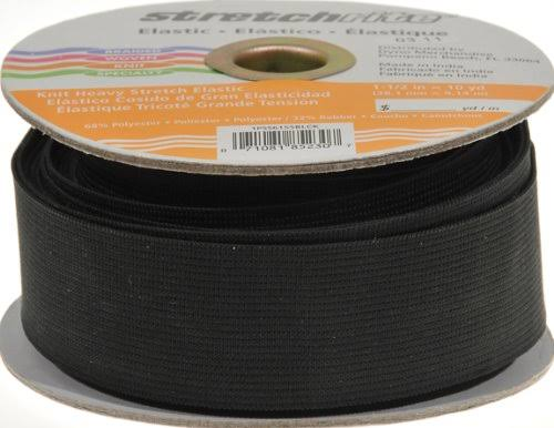 Stretchrite Knit Elastic Heavy Stretch - Black, 1-1/2'' x 10yd