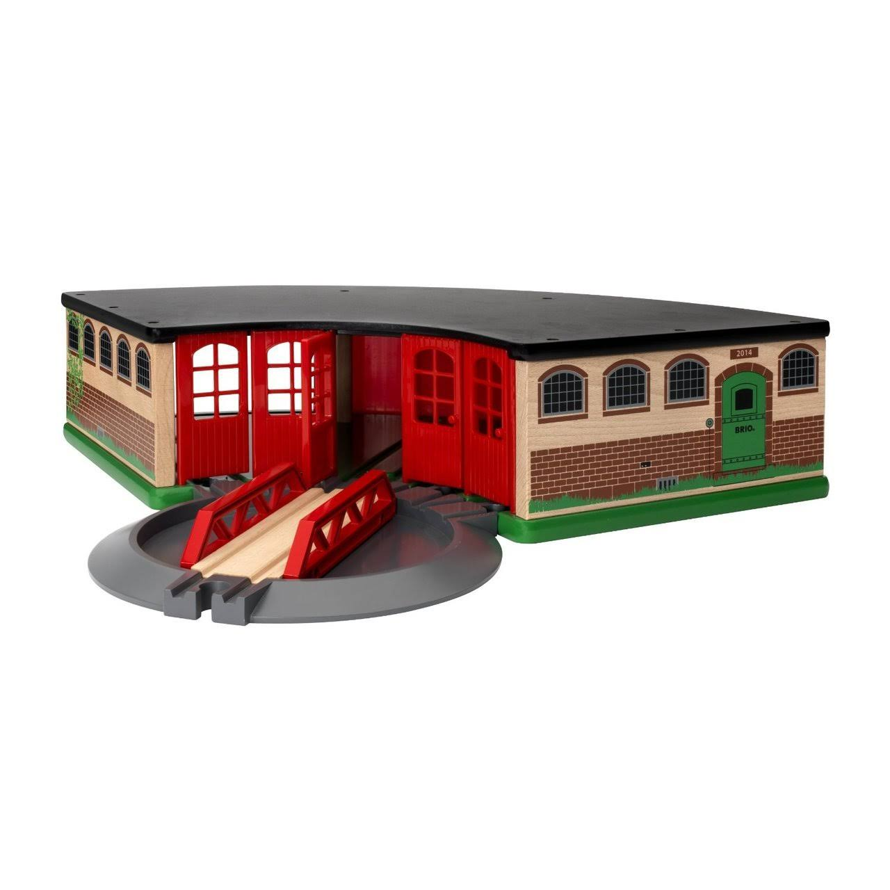 Brio 33736 Grand Roundhouse Wooden Train Toy Set