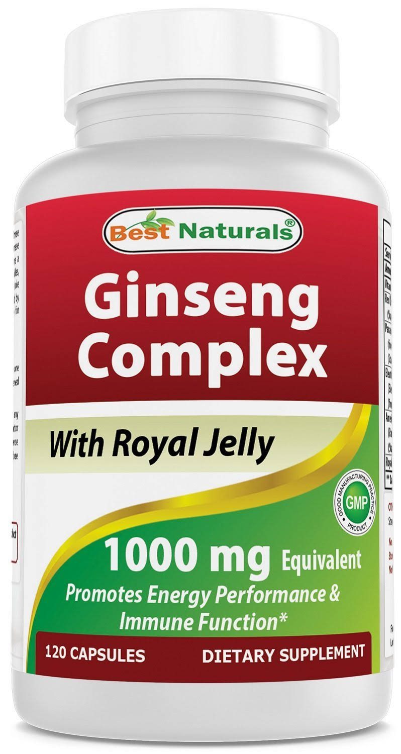 Best Naturals Ginseng Complex Supplement - 1000mg, 120 Capsules