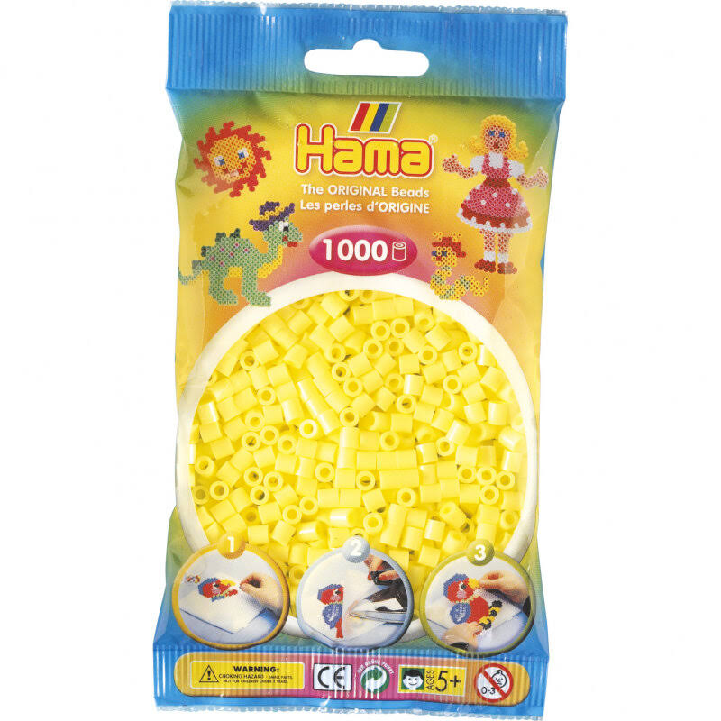Hama Beads - Pastel Yellow (1000 Midi Beads)