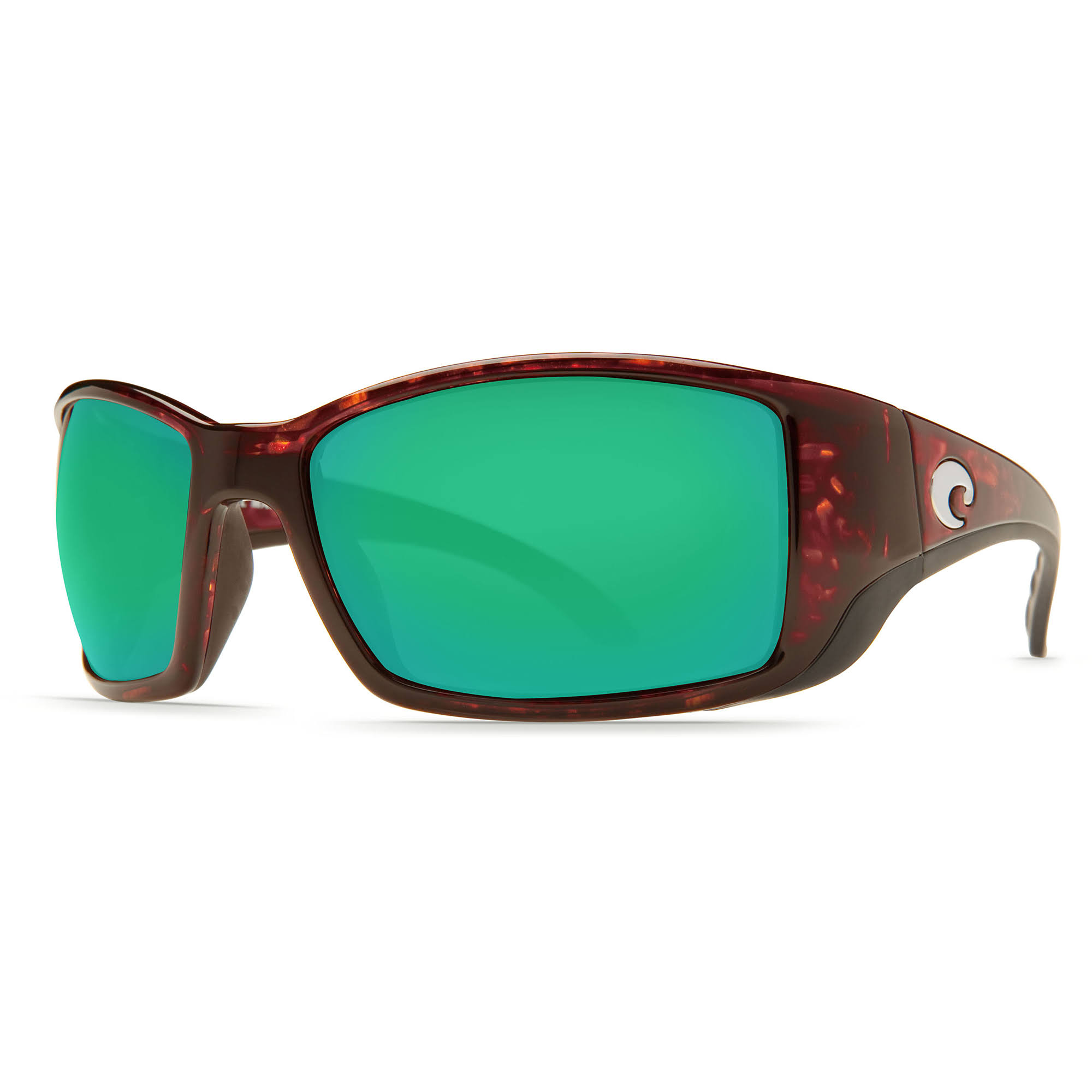 Costa Del Mar Blackfin Sunglasses - Brown Frame, Green Lens, 580p
