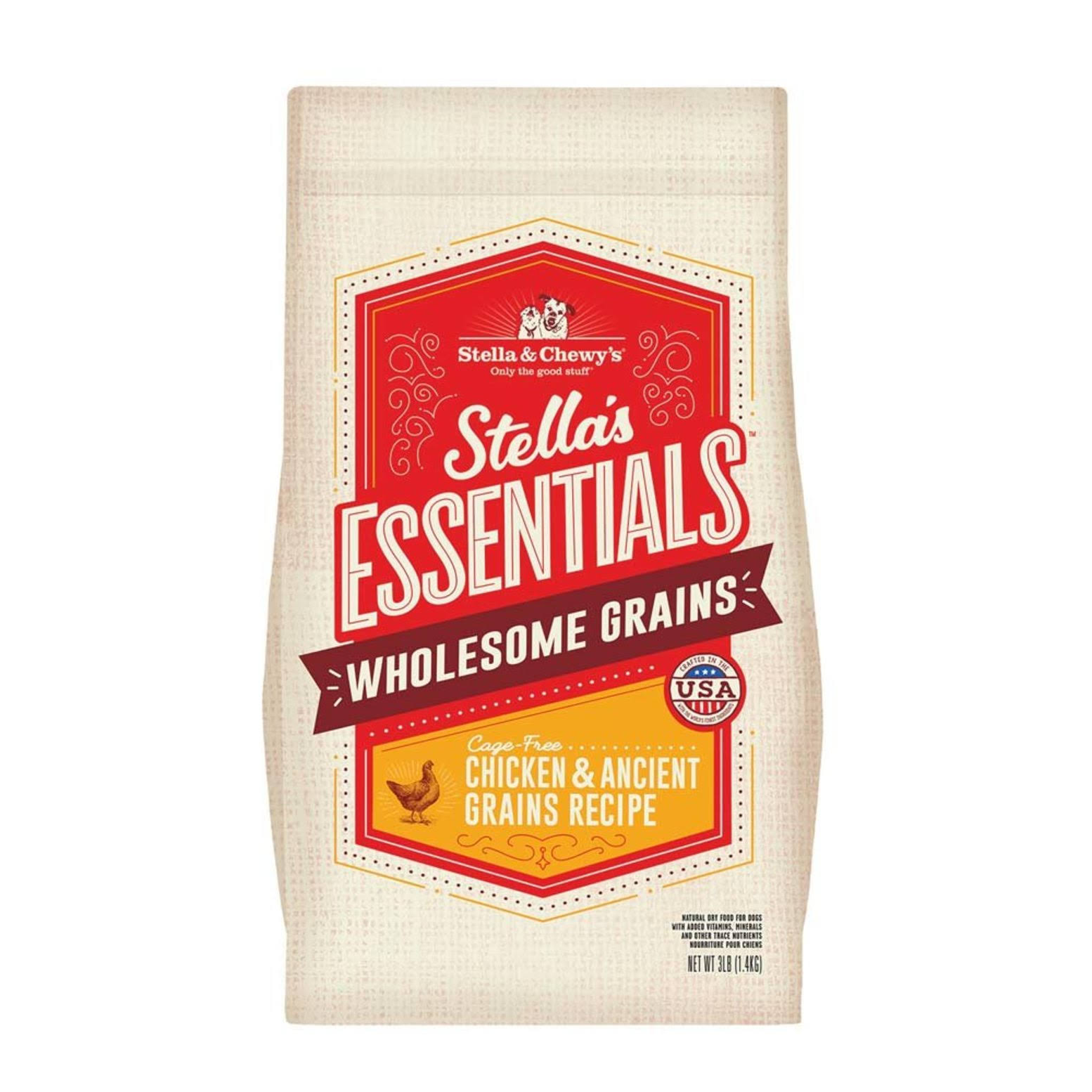 Stella & Chewy's Essentials Kibble Cage-Free Chicken & Ancient Grains Dog Food - 3 lbs.