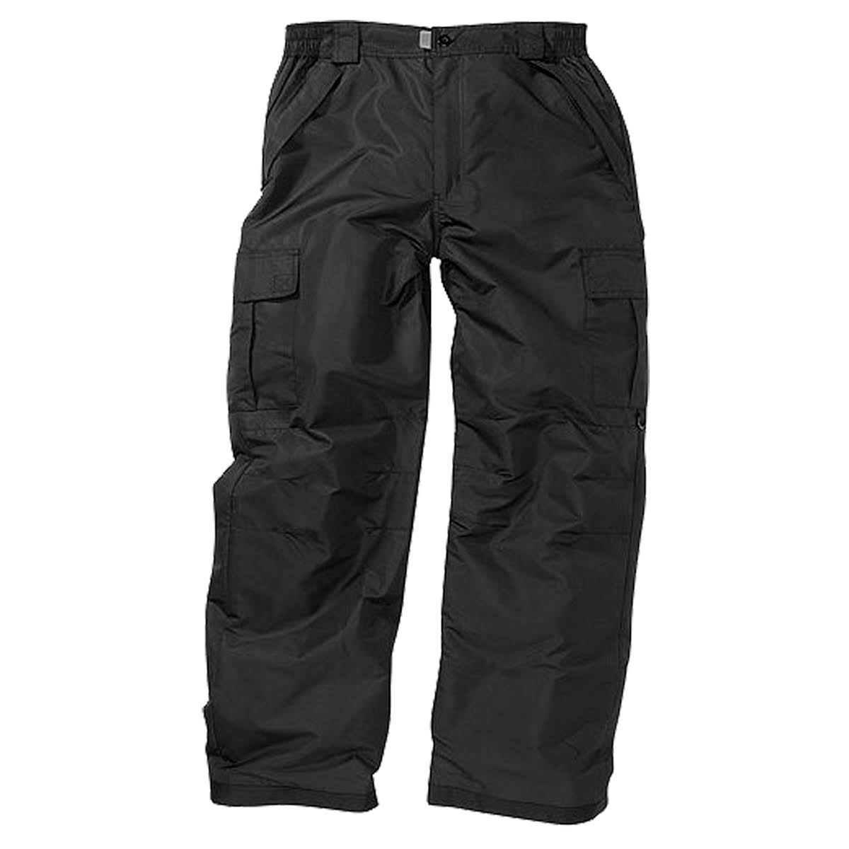 World Famous Sports Men's Cargo Snow Pants - Black - M