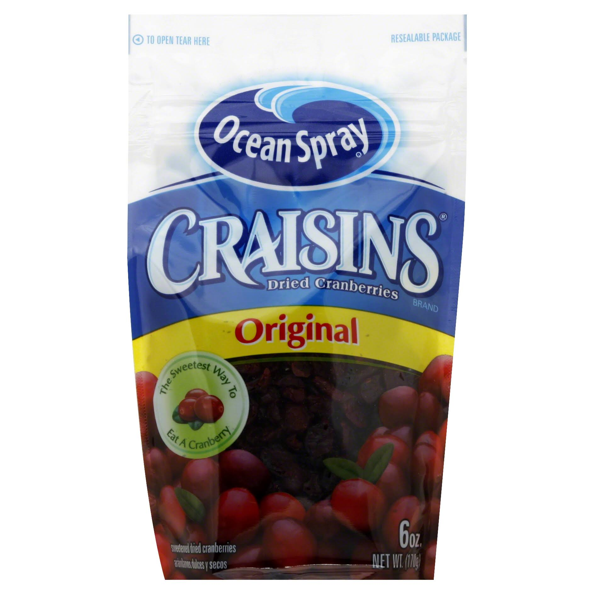 Ocean Spray Craisins Original Dried Cranberries - 6oz