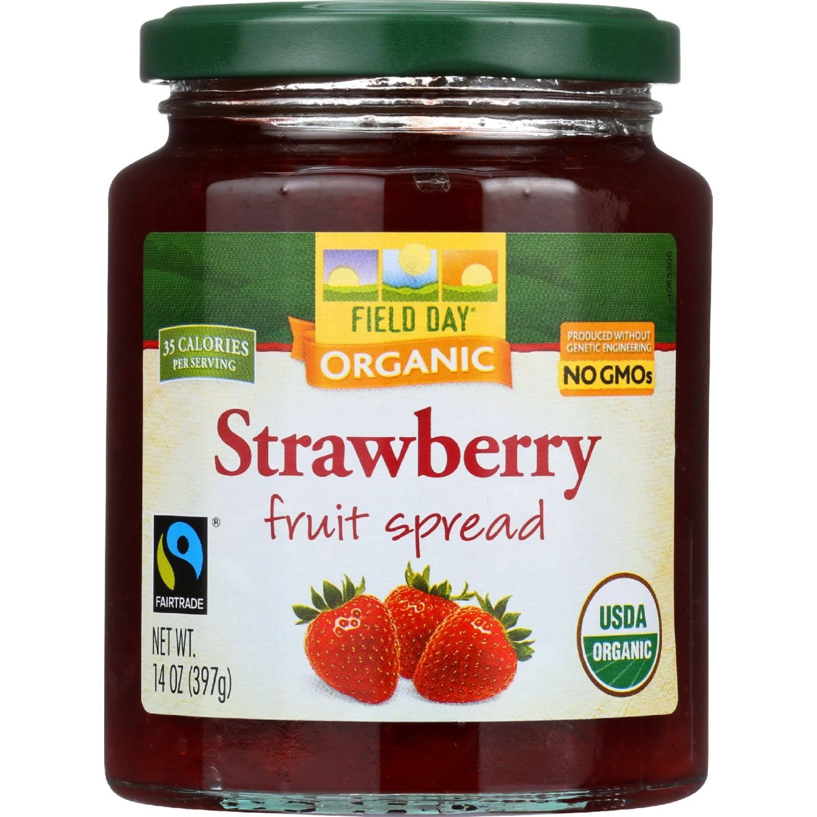 Field Day Organic Fruit Spread - Strawberry - 14 oz