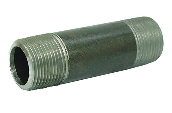 Ace Schedule 40 MPT to MPT 1/4 in. Dia. x 4 in. L x 1/4 in. Dia. Galvanized Steel Pipe Nipple