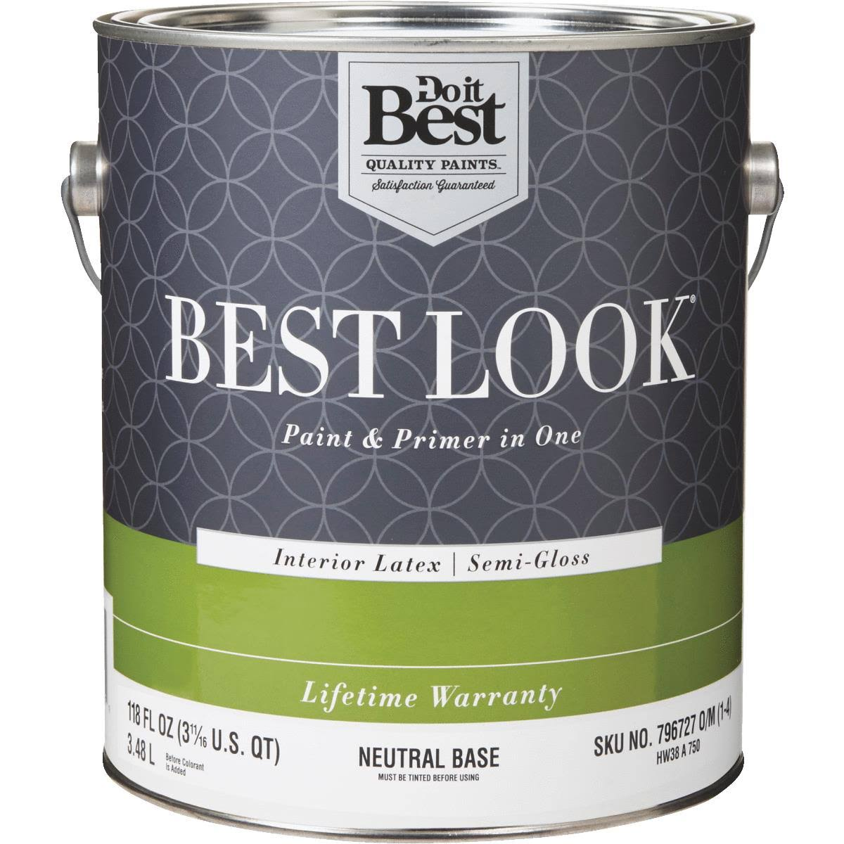 Best Look Latex Paint & Primer in One Semi-Gloss Interior Wall Paint