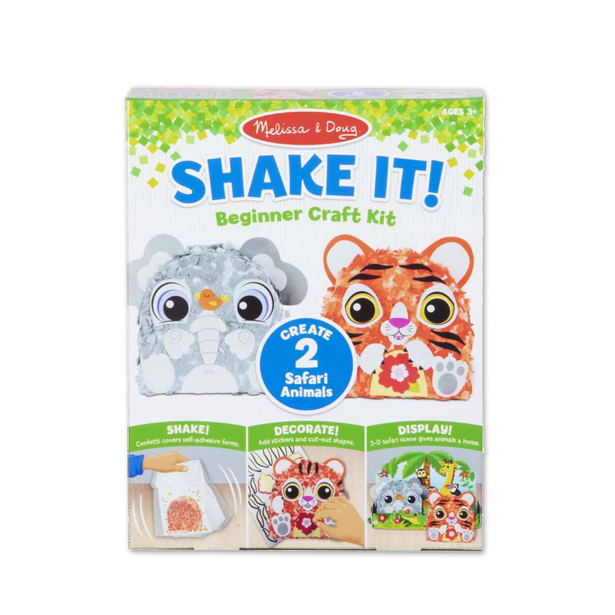 Melissa & Doug - Shake It! Safari Animals Beginner Craft Kit