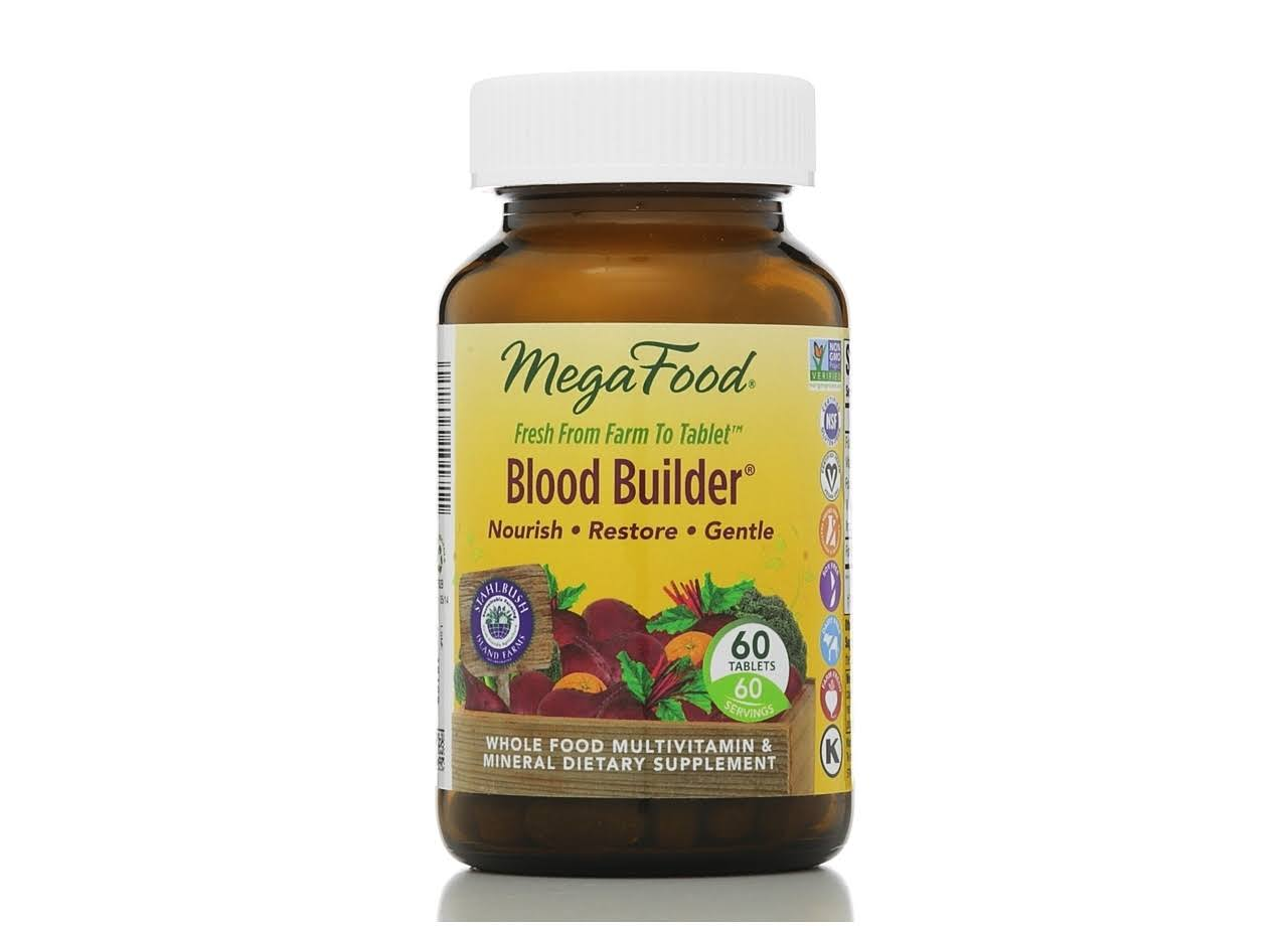 MegaFood Blood Builder, Vegetarian Tablets - 60 count