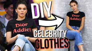 diy celebrity clothes kendall jenner u0026 kim kardashian youtube
