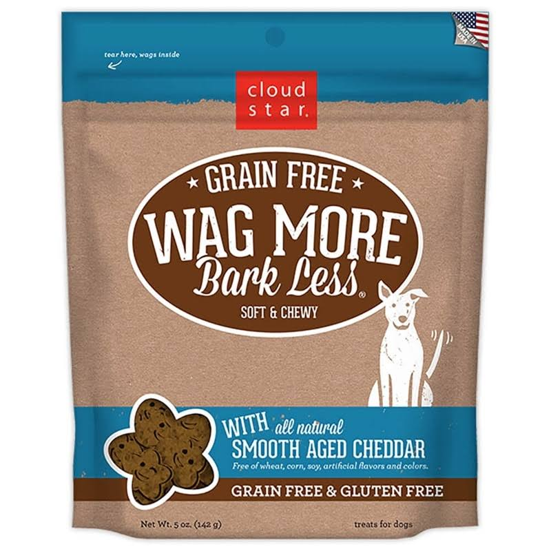 Cloud Star Wag More Bark Less Soft & Chewy Dog Treats - Smooth Aged Cheddar, 5oz