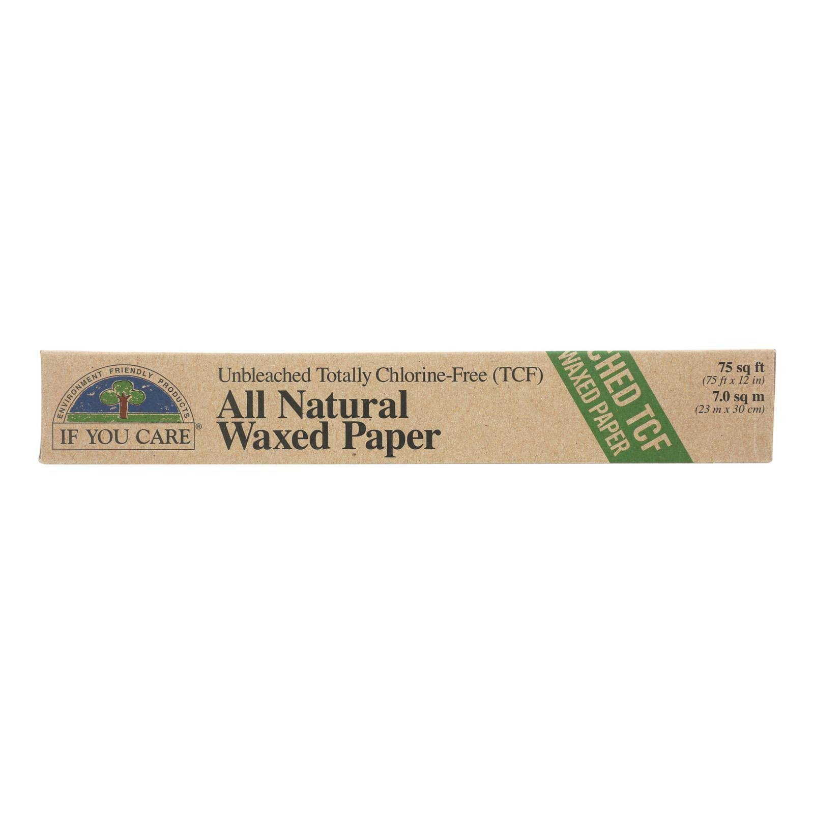 If You Care Unbleached 100% Soybean Wax Paper, 75 sq ft, Beige