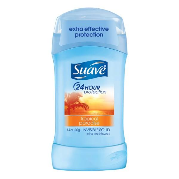Suave 24 Hour Protection Invisible Solid Antiperspirant & Deodorant - Tropical Paradise