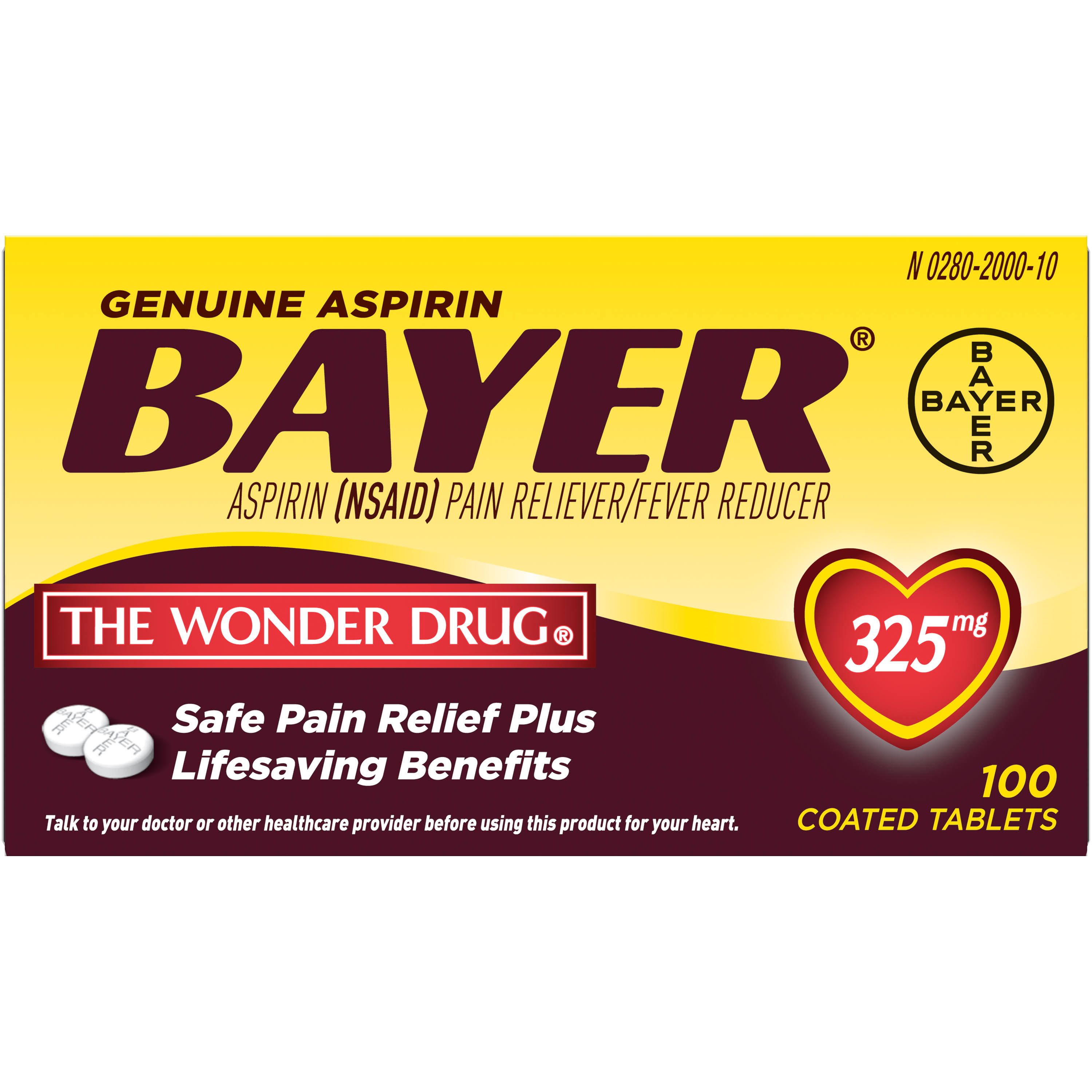 Bayer Aspirin Pain Reliever Tablets - 100ct