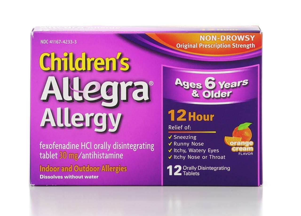 Allegra Allergy Children's Orange Cream Flavor Orally Disintegrating Tablets - 12 Tablets