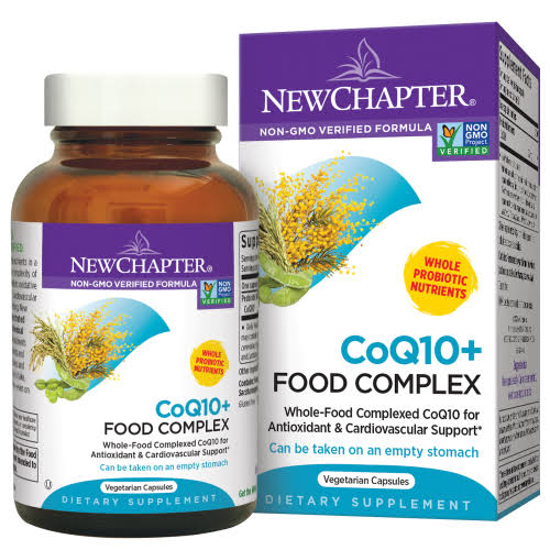 New Chapter CoQ10+ Food Complex Dietary Supplement - 30 Capsules
