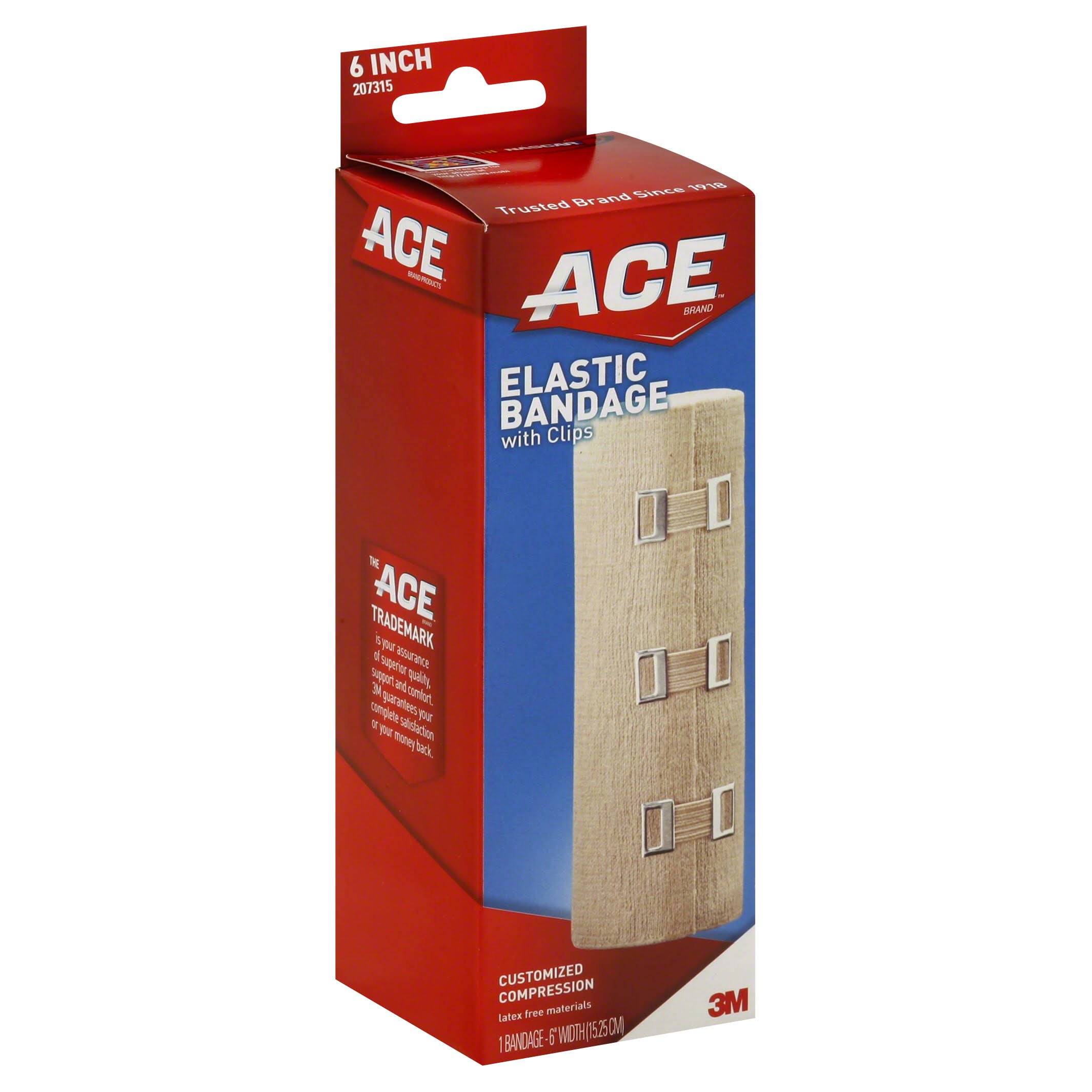 3M Ace Elastic Bandage with Clips - 6""